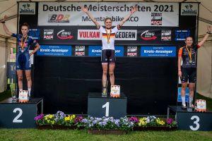 Leonie Daubermann bei den Deutschen Meisterschaften in Gedern (© EGO-Promotion)